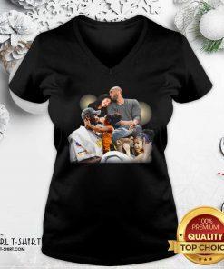 Lebron James Kobe Daughter V-neck - Design By Girltshirt.com