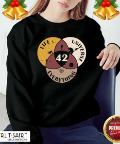 42 The Answer To Life Universe And Everything Sweatshirt- Design By Girltshirt.com
