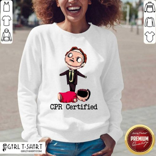 Dwight Schrute Cpr Certified V-neck - Design By Girltshirt.com