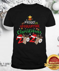 Merry Quarantine Christmas 2020 Pajamas Matching Family Gift Shirt - Design By Girltshirt.com