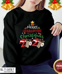 Merry Quarantine Christmas 2020 Pajamas Matching Family Gift Sweatshirt- Design By Girltshirt.com