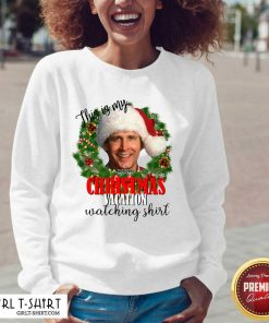 Santa Michael Scott This Is My Christmas Vacation Watching V-neck- Design By Girltshirt.com