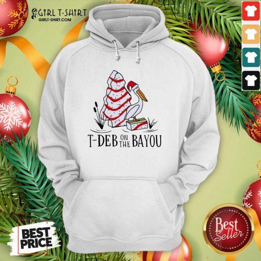 Santa Pelecanus T Deb On The Bayou Christmas Hoodie - Design By Girltshirt.com