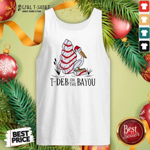 Santa Pelecanus T Deb On The Bayou Christmas Tank Top - Design By Girltshirt.com