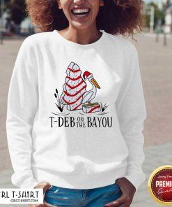 Santa Pelecanus T Deb On The Bayou Christmas V-neck - Design By Girltshirt.com