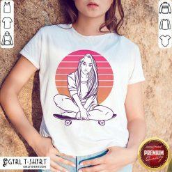 Skateboarding Skater Girl Sunset Gift Shirt - Design By Girltshirt.com