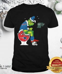 The Grinch New York Jets Shit On Toilet New England Patriots And Other Teams Christmas Shirt - Design By Girltshirt.com