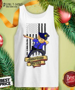 Dabbing Police Man Ameican Heroes Us Flag Tank Top - Design By Girltshirt.com