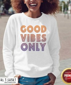 Good Vibes Only Funny V-neck - Design By Girltshirt.com