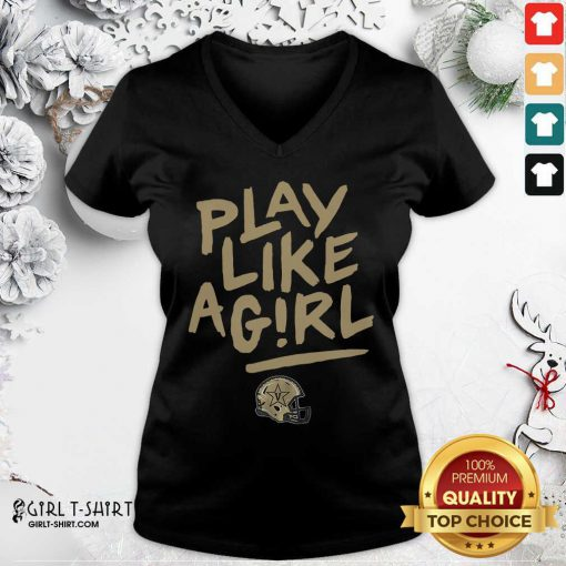 Official Play Like A Girl V-neck - Design By Girltshirt.com