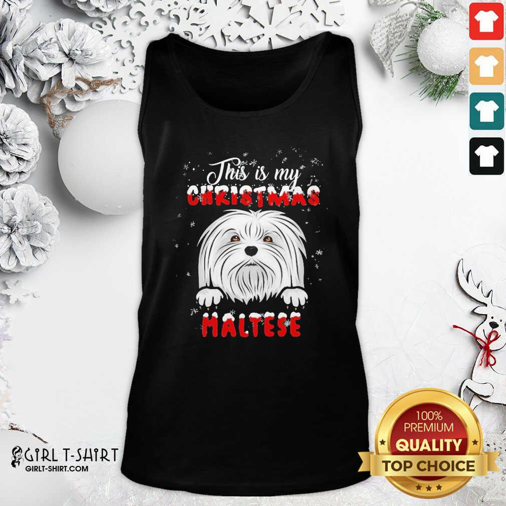 This Is My Christmas Maltese Merry Christmas Tank Top - Design By Girltshirt.com