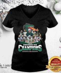 2020 Conference Usa Champions Usa V-neck- Design By Girltshirt.com