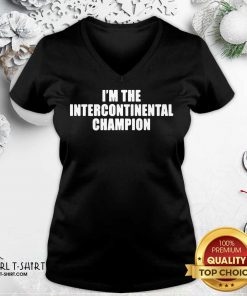 I'm The Intercontinental Champion V-neck- Design By Girltshirt.com