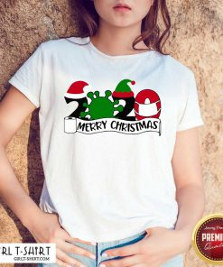Merry Christmas 2020 Santa Elf Coronavirus Shirt- Design By Girltshirt.com