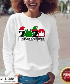 Merry Christmas 2020 Santa Elf Coronavirus V-neck - Design By Girltshirt.com