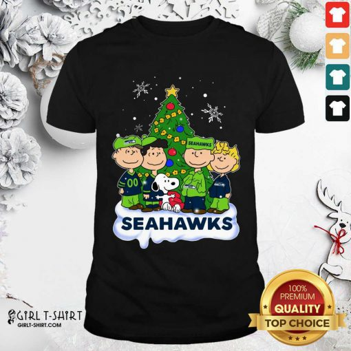Snoopy The Peanuts Seattle Seahawks Christmas Shirt - Design By Girltshirt.com