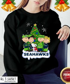 Snoopy The Peanuts Seattle Seahawks Christmas Sweatshirt - Design By Girltshirt.com