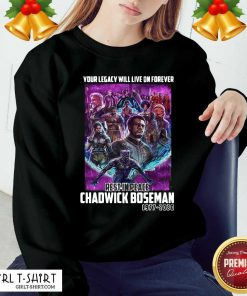 Your Legacy Will Live On Forever Rest In Peace Chadwick Boseman 1977 2020 Sweatshirt - Design By Girltshirt.com