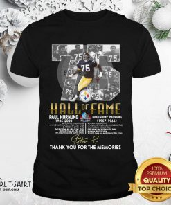 75 Paul Hornung 1935 2020 Hall Of Fame Thank You For The Memories Signature Shirt - Design By Girltshirt.com