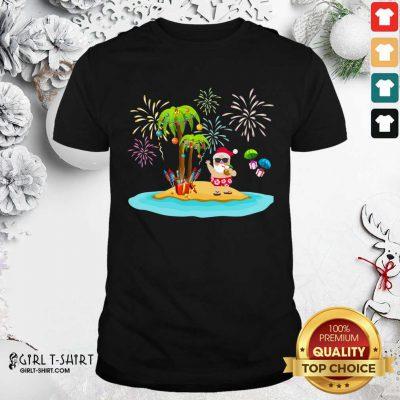 Christmas Palm Tree Xmas Coconut Lights Shirt- Design By Girltshirt.com