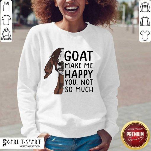Goat Goats Make Me Happy You Not So Much V-neck- Design By Girltshirt.com