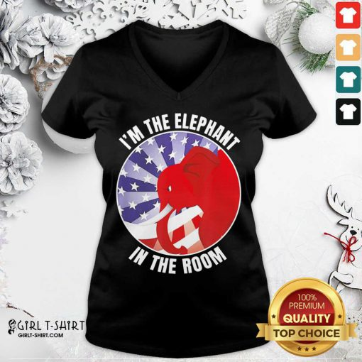I'm The Elephant In The Room Republican Conservative V-neck - Design By Girltshirt.com