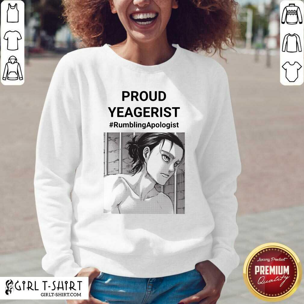 Proud Yeagerist Rumbling Apologist V-neck- Design By Girltshirt.com