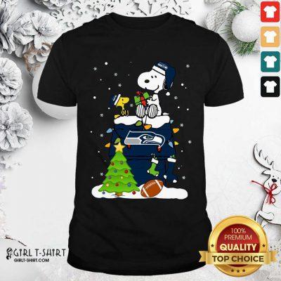 Snoopy Merry Christmas Nfl Seahawks Unisex Shirt - Design By Girltshirt.com