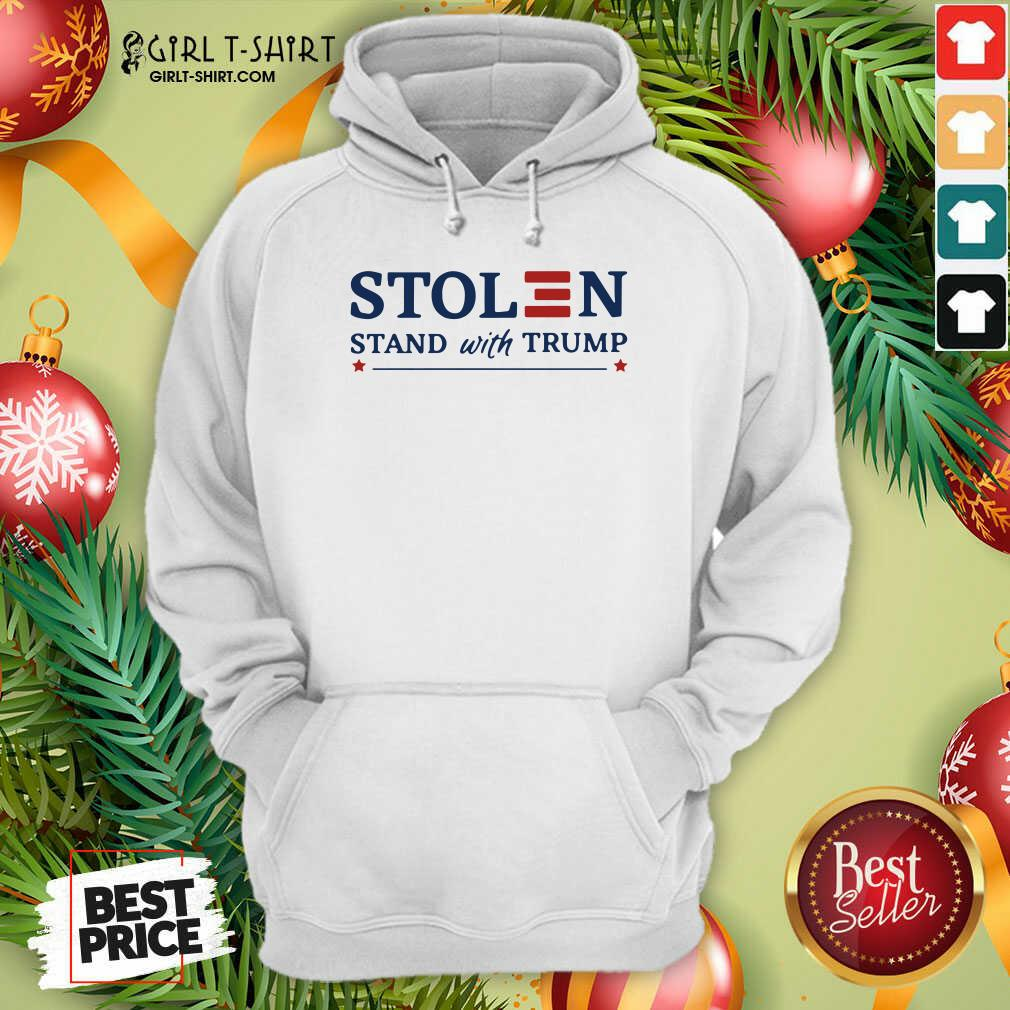 Stolen Stand With Trump Hoodie- Design By Girltshirt.com