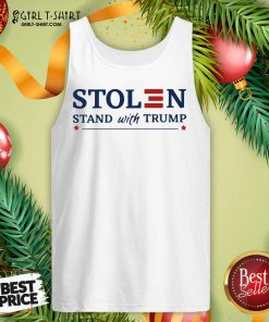 Stolen Stand With Trump Tank Top- Design By Girltshirt.com