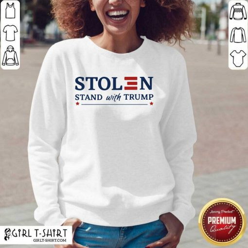 Stolen Stand With Trump V-neck - Design By Girltshirt.com