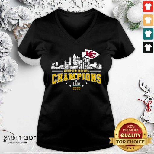 Super Bowl Champions 2020 Name V-neck- Design By Girltshirt.com