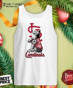 Tattoo Cat I love St Louis Cardinals Tank Top - Design By Girltshirt.com