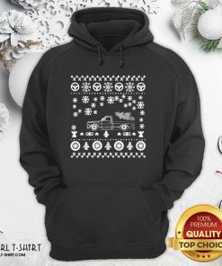 Tow Truck Ugly Merry Christmas Hoodie - Design By Girltshirt.com