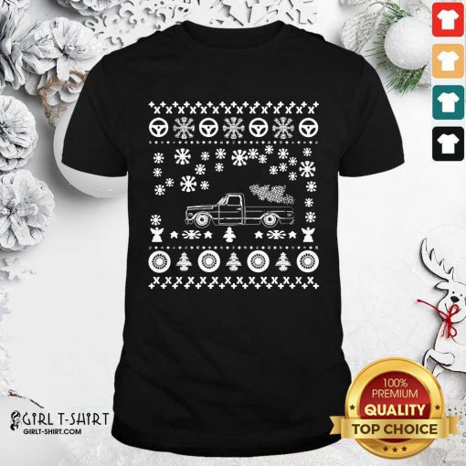 Tow Truck Ugly Merry Christmas Shirt - Design By Girltshirt.com