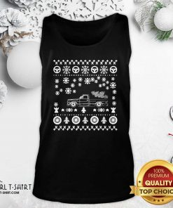 Tow Truck Ugly Merry Christmas Tank Top - Design By Girltshirt.com