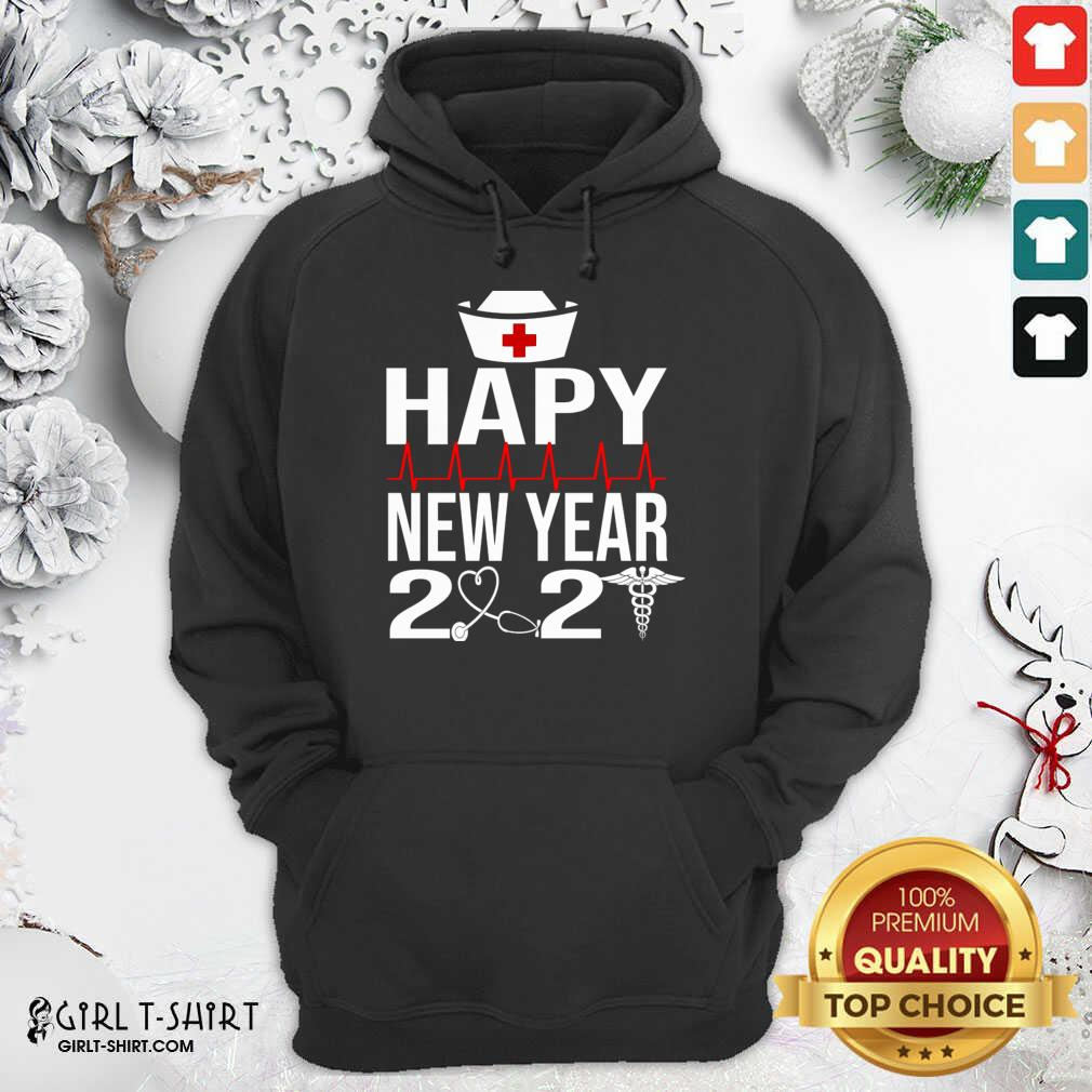 Happy New Year 2021 Nurse Crew Santa's Favorite Nurse Hoodie- Design By Girltshirt.com