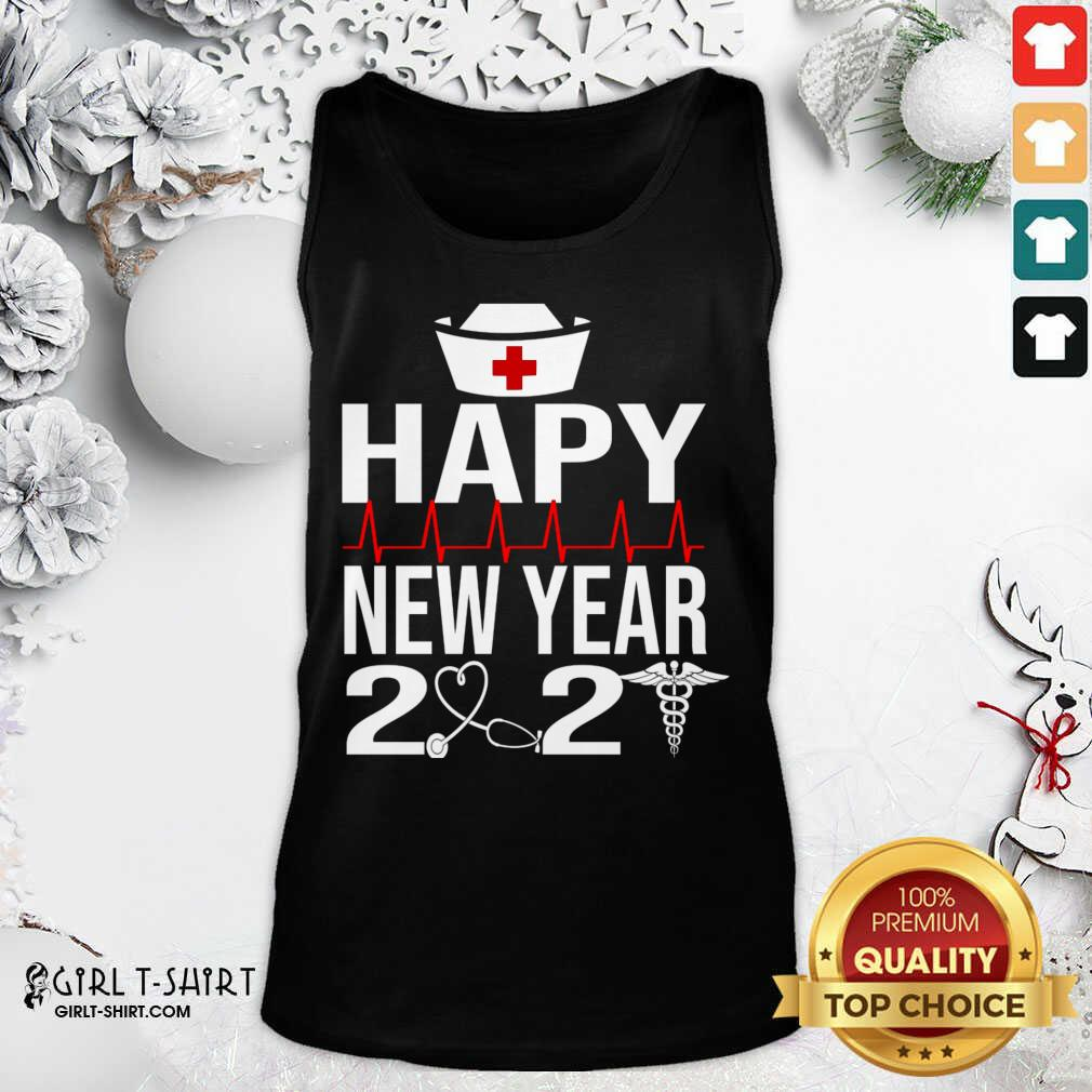 Happy New Year 2021 Nurse Crew Santa's Favorite Nurse Tank Top- Design By Girltshirt.com