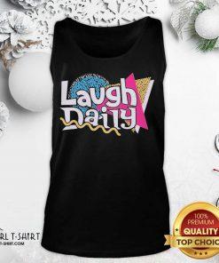 Morejstu Merch Jstu Retro Laugh Daily Tank Top - Design By Girltshirt.com