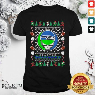 Seattle Seahawks Grateful Dead Ugly Christmas Shirt - Design By Girltshirt.com