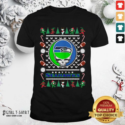 Seattle Seahawks Grateful Dead Ugly Christmas Shirt - Design By Girltshirt.com