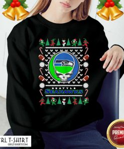 Seattle Seahawks Grateful Dead Ugly Christmas Sweatshirt - Design By Girltshirt.com