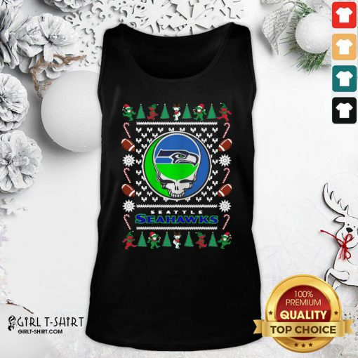 Seattle Seahawks Grateful Dead Ugly Christmas Tank Top - Design By Girltshirt.com