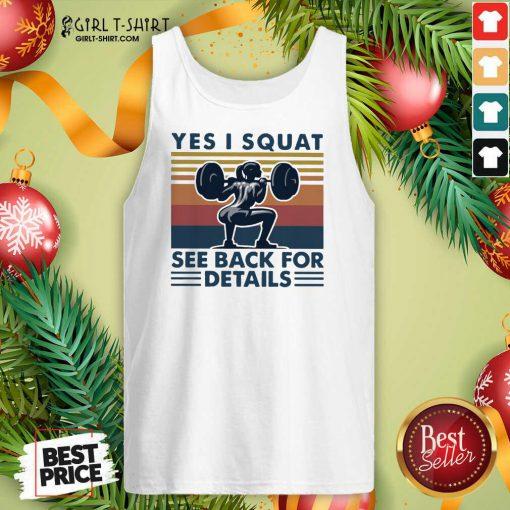 Yes I Squat See Back For Details Vintage Tank Top - Design By Girltshirt.com