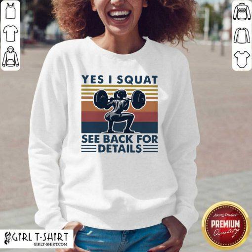 Yes I Squat See Back For Details Vintage V-neck- Design By Girltshirt.com