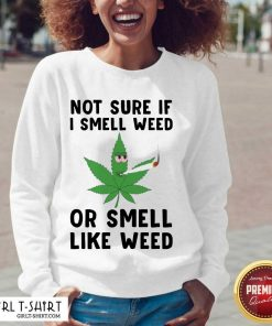 Cannabis Not Sure If I Smell Weed Or Smell Like Weed V-neck - Design By Girltshirt.com