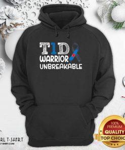 Diabetes T1D Warrior Unbreakable Hoodie- Design By Girltshirt.com