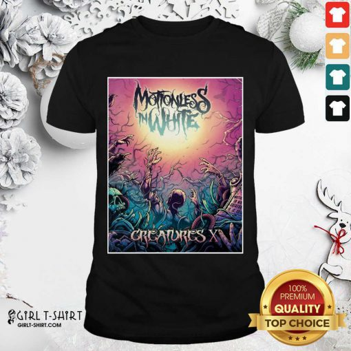 Motionless In White Merch Creatures Deadstream Shirt - Design By Girltshirt.com