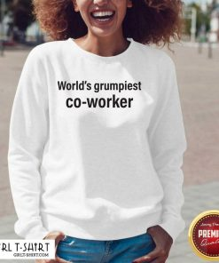 World's Grumpiest Co Worker V-neck- Design By Girltshirt.com