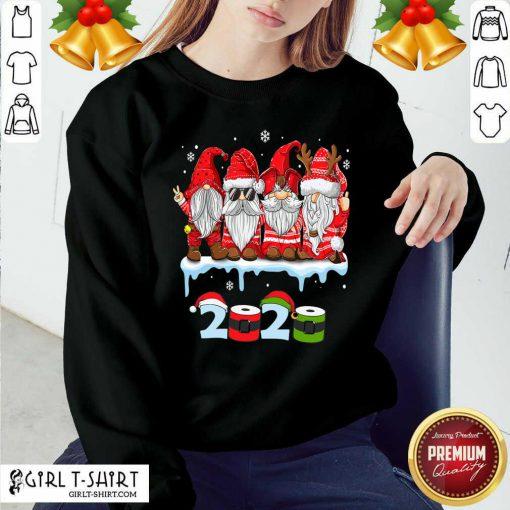 Merry Christmas Gnomes Wear Mask 2020 Quarantine Xmas Sweatshirt - Design By Girltshirt.com
